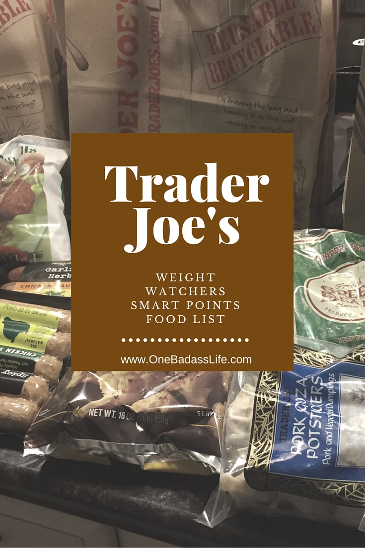 trader joes weight watchers food list one badass life. Black Bedroom Furniture Sets. Home Design Ideas