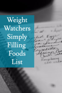 Simply Filling Foods List
