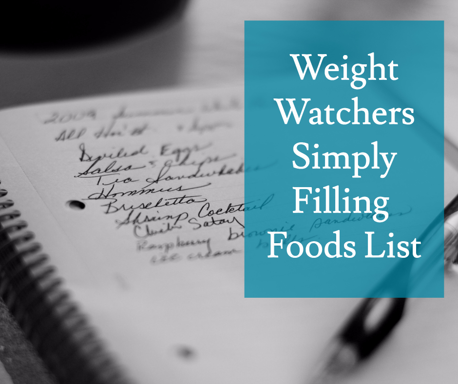 Weight Watchers Filling Food List With Points