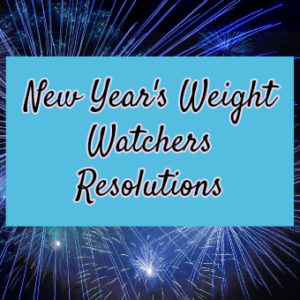 New Year's Weight Watchers Resolutions